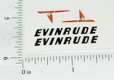 Evinrude Big Twin Toy Boat Motor Stickers Main Image