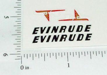 Evinrude Big Twin Toy Boat Motor Sticker Set Main Image