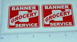 Banner Grocery Service Truck Sticker Set