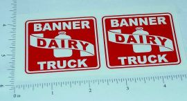 Banner Dairy Truck Replacement Sticker Set