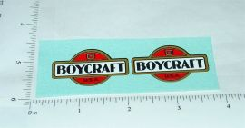 Vintage Boycraft Pressed Steel Vehicle Stickers
