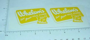 Banner Whelan's Drug Stores Truck Sticker Set Main Image