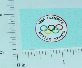 Corgi 1964 Olympics Citroen Replacement Sticker
