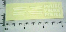 Corgi #406 Buick Police Car Sticker Set