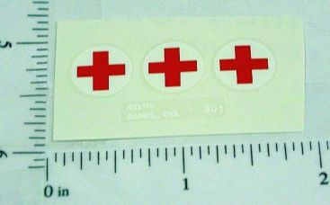 Corgi #354 Commer Military Ambulance Stickers Main Image