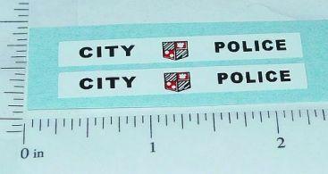 Corgi City Police Van Sticker Set Main Image