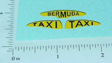 Corgi Bermuda Taxi Cab Sticker Set Main Image