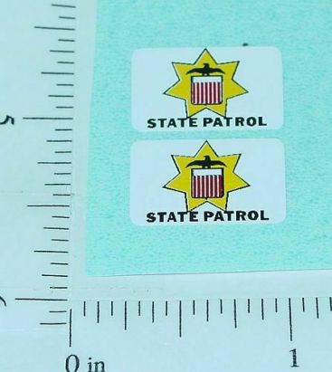 Corgi #223 State Patrol Car Sticker Set Main Image