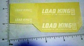 Custom White Load King Stickers