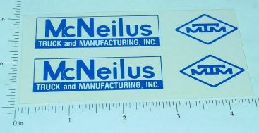 Custom McNeilus Truck & Manufacturing Stickers Main Image