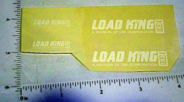 Custom White Load King Stickers Main Image