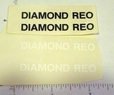 Custom Black & White Diamond REO Truck Stickers Main Image