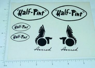 Custom Half Pint Powered Tether Car Stickers Main Image