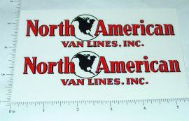 Custom North American Van Lines Truck Stickers