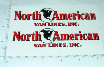 Custom North American Van Lines Truck Stickers Main Image