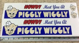 Custom Piggly Wiggly Tonka/Smith Miller Semi Truck Sticker Set