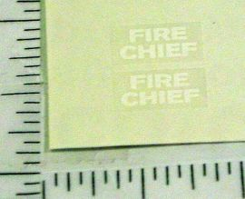 Dinky Toys #257 Nash Rambler Fire Chief Stickers