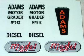 Doepke Adams Road Grader Sticker Set