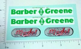 Doepke Barber Greene Loader Sticker Set