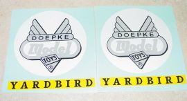 Doepke Yardbird Ride On Train Car Sticker Set