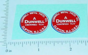 Dunwell Trucks Round Door Logo Stickers Main Image