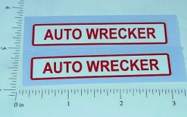 Dunwell Auto Wrecker Truck Stickers