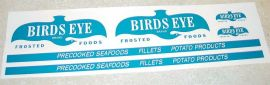 Dunwell Birdseye Foods Semi Truck Sticker Set
