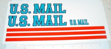 Dunwell US Mail Semi Truck Sticker Set Main Image