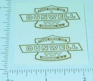 Dunwell Fame Logo Replacement Door Stickers Main Image
