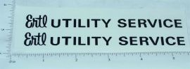 Ertl Fleetstar Utility Bucket Truck Sticker Set