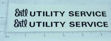 Ertl Fleetstar Utility Bucket Truck Sticker Set Main Image