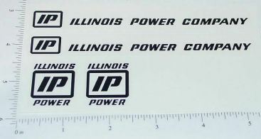 Ertl Illinois Power Utility Truck Sticker Set Main Image