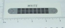 Ertl White COE Truck Grill Replacement Sticker