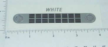 Ertl White COE Truck Grill Replacement Sticker Main Image