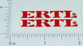 Ertl International Fleetstar Red Logo Stickers  ET-018R