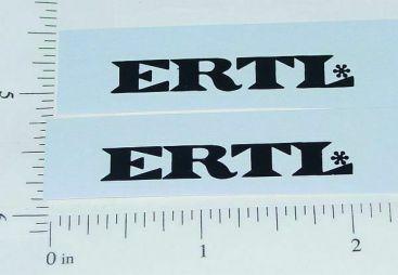 Ertl Fleetstar Door Black Text Logo Stickers      ET-018B Main Image
