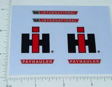 Ertl IHC 1:16 Payhauler Dump  Truck Stickers Main Image
