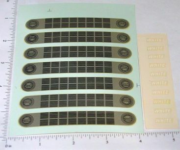 OEM Ertl White Cabover Grill Waterslide Decals Main Image