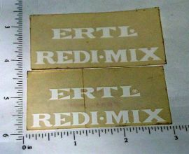 OEM Ertl Redi-Mix Cement Mixer Truck Stickers