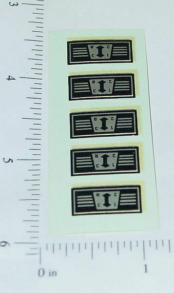 OEM Ertl Gear Shift Water Transfer Decal Sheet Main Image