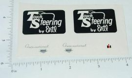 Ertl Touch Steering (Black) Complete Sticker Set