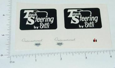 Ertl Touch Steering (Black) Complete Sticker Set Main Image