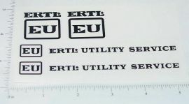 Ertl EU Utility Truck Black Sticker Set
