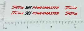 Hubley Ford Powermaster 961 Tractor Stickers