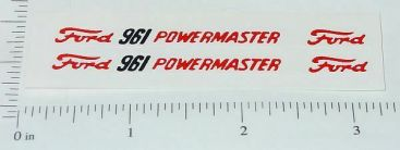 Pair Hubley Ford Powermaster 961 Tractor Stickers Main Image