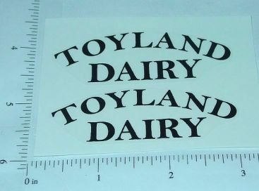 Girard Toyland Dairy Tanker Sticker Set         GI-001B Main Image
