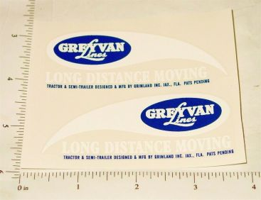 Vintage Grimland Toy Semi Truck Replacement Stickers Main Image