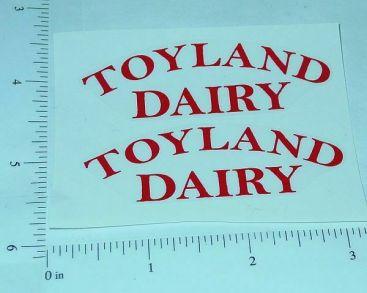 Girard Toyland Dairy Tanker Sticker Set         GI-001R Main Image