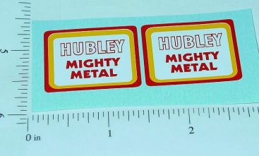 Hubley Mighty Metal Trucks Replacement Stickers Main Image