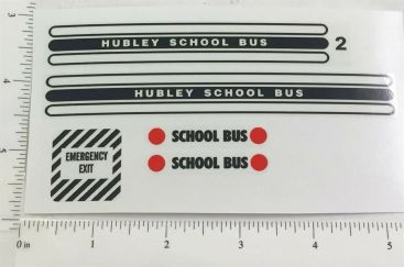 Hubley School Bus Replacement Stickers Main Image